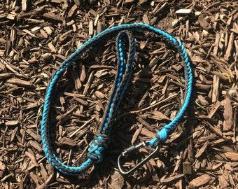 4 foot herringbone braid dog leash with flat handle