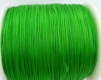 10 yards Green Nylon Cord - 1mm Macrame Shamballa Chinese Knotting Cord - Jewelry Making Stringing Material - N072