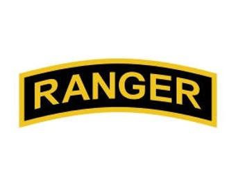 US Army Ranger Tab Vector Files, dxf eps svg ai crv