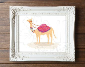 Wall Art Printable, Instant Download File, Camel, 8x10 home decor print