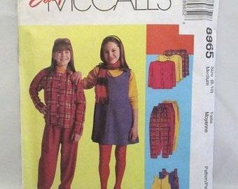 McCalls 8965 Easy Kid Stuff Girls Jacket Jumper & Pull On Pants Size 8-10 UNCUT