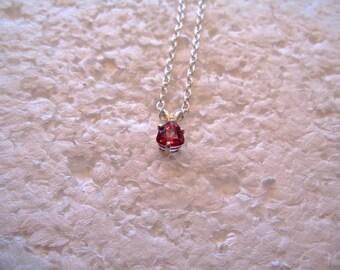 Pink Topaz Pendant/Necklace, 6mm Trillion, Natural, Set in Sterling Silver P600