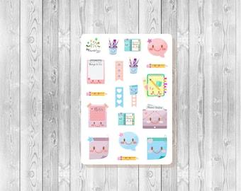 S103  - 18 Kawaii Planner Stickers