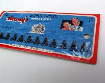 Vintage Black Hook & Eye Sheet - Full Sheet