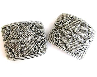 Cut Steel Bead Shoe Clips Buckles French Bridal Appliques