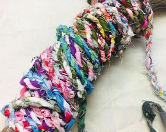 Colourful Upcycled Fabric twine rope