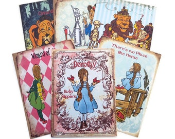 Wizard of Oz Note cards -Blank Note Cards-Birthday-Dorothy-Children Fairytale Party-Toto-Witch-Scarecrow-Wizard-