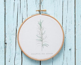 Embroidery art hoop *herbarium collection*