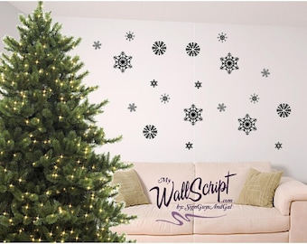 Snowflake wall decals