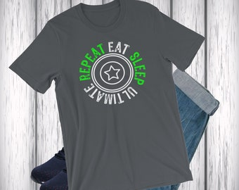 Eat Sleep Ultimate - Frisbee Shirt - Love Frisbee - Frisbee Gift - Mens Ultimate - Ultimate shirt - Ultimate frisbee - Ultimate gift