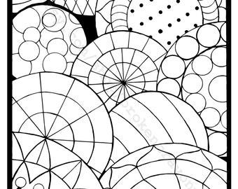 Coloring Page (Circles 4)
