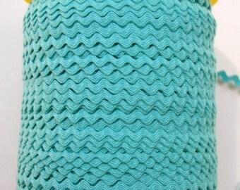 "11/64"" Polyester Rick Rack - Aqua"