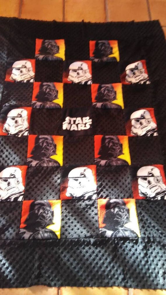 Star Wars Darth Vader Storm Trooper Blanket Ready To Ship