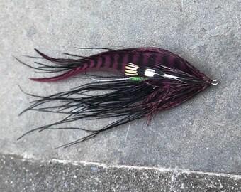Claret and Black Steelhead Flies- Set of 2