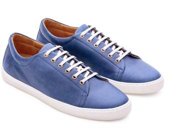 Blue Sneakers Turnschuhe Blues Espadrilles Zapatos Schoenen Baskets Keds Canvas Sneakers Shoes Leather Piel