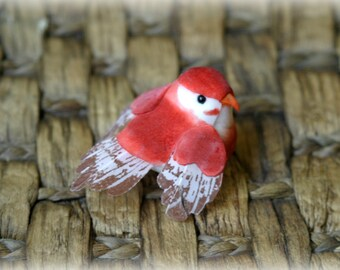 """1A  Red Bird Crafting Embellishment for Scrapbooking, Cards, Altered Art,  etc approx. 2.25"""" x 1.25"""" AN-011"""
