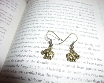 Sweet Little Golden Elephant Earrings