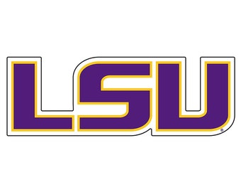 "LSU Tigers 4"" Premium Vinyl Die Cut Decal for Phone, YETI, RTIC, Ozark Insulated Tumbler Cups"