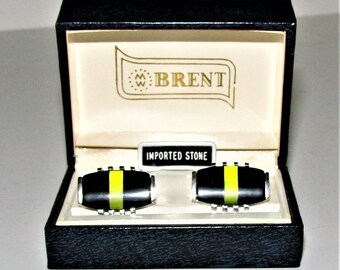 Brent Cufflinks Retro Vintage Jewelry Cufflinks Imported Stones