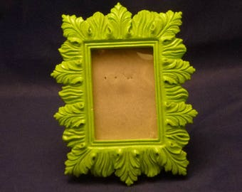 Vintage Small Ceramic Leaf Picture Frame, 1990s