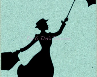 DIGITAL DOWNLOAD * Mary Poppins Silhouette