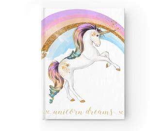 Unicorn Journal, Unicorn, Unicorn Notebook, Journal, Notebook, Unicorn Gift, Sketchbook, Diary, Bullet Journal, Custom Notebook, Writing