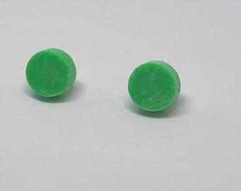 Resin stud earrings