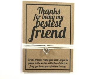 Best friend wish charm bracelet