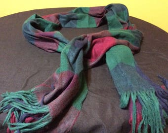 Vintage Geoffrey Beene Winter Scarf Made in Italy