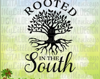 Southern SVG ~ Southern Roots ~ Rooted in the South ~ Tree with Roots svg ~ Tree svg ~ Commercial Use SVG ~ Cut File ~ Clipart ~ dxf-eps-png
