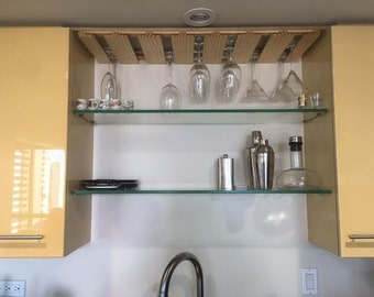 Under Cabinet Wine Glass Rack 36 Inches Long