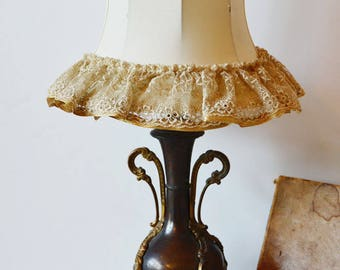 Incredible Antique French Urn Table Lamp