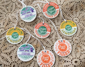 I'd Hang These From Just About Anything Vintage Lassig & Dalee's Paper Board Drink Tags