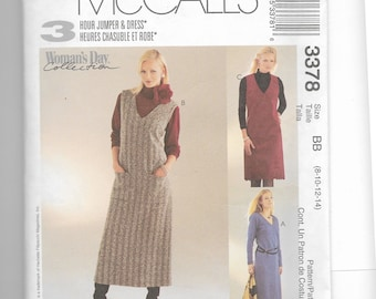 McCall's Misses'/Miss Petite Jumper and Dress  in Two Lengths Pattern 3378