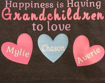 Personalized Grandparents T-Shirts