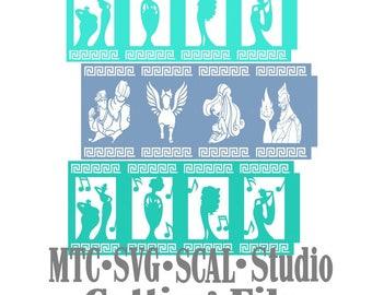 Hercules Bundle lanterne Design 01 coupe Silhouette MTC SCAL fichier Format de fichier SVG