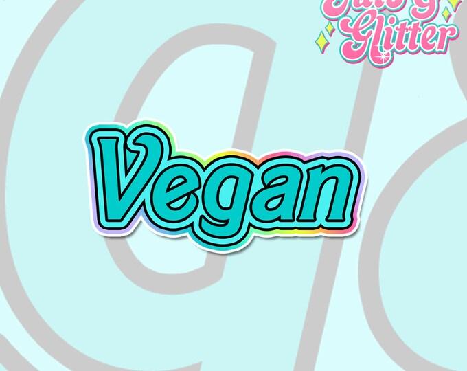 Vegan Doll Blue, Barbie Inspired Holographic Sticker