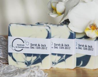 Handmade Soap Wedding Favours - Vegan Friendly - Palm Free - SLS Free - Paraben Free