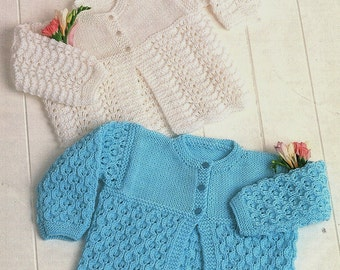 Baby Matinee Coats, Knitting Pattern. PDF Instant Download.