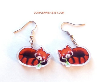 Red Panda earring