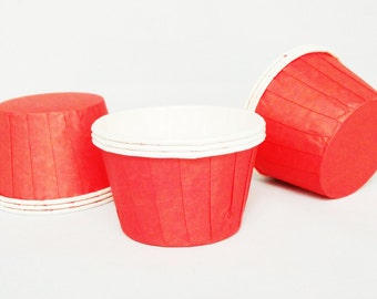 High Quality Pleated Red Baking Cups Cupcake Cases Muffin Cups