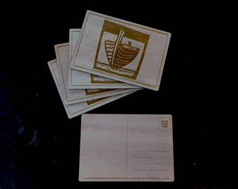 Wooden Postcards - that you can re-use as Coasters!