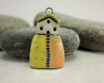 Hilltop Cottage...Pendant in Stoneware