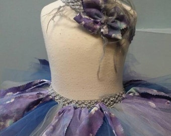 Fabric and Tulle Tutu with Matching Headband