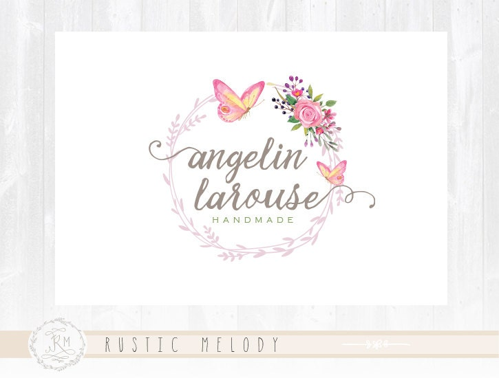 Floral Logo Design Photography Butterfly