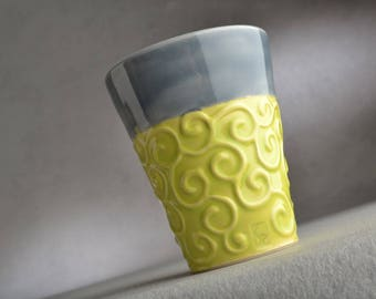 Curly Tumbler Ready To Ship Curly Cup by Symmetrical Pottery