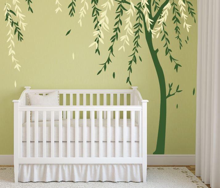 Baby Boy Nursery Ideas Stick on Wall Art Tree Decals for Walls