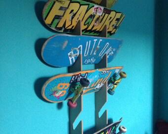 Skateboard Rack. Wall Mounted.
