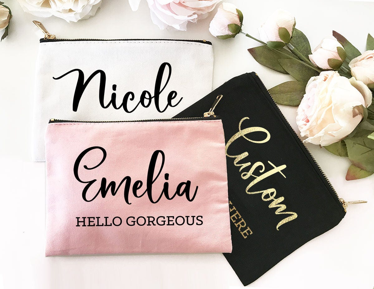 Personalized Makeup Bag Personalized Cosmetic Bag