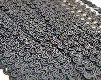 10 meters 8mm width black braids